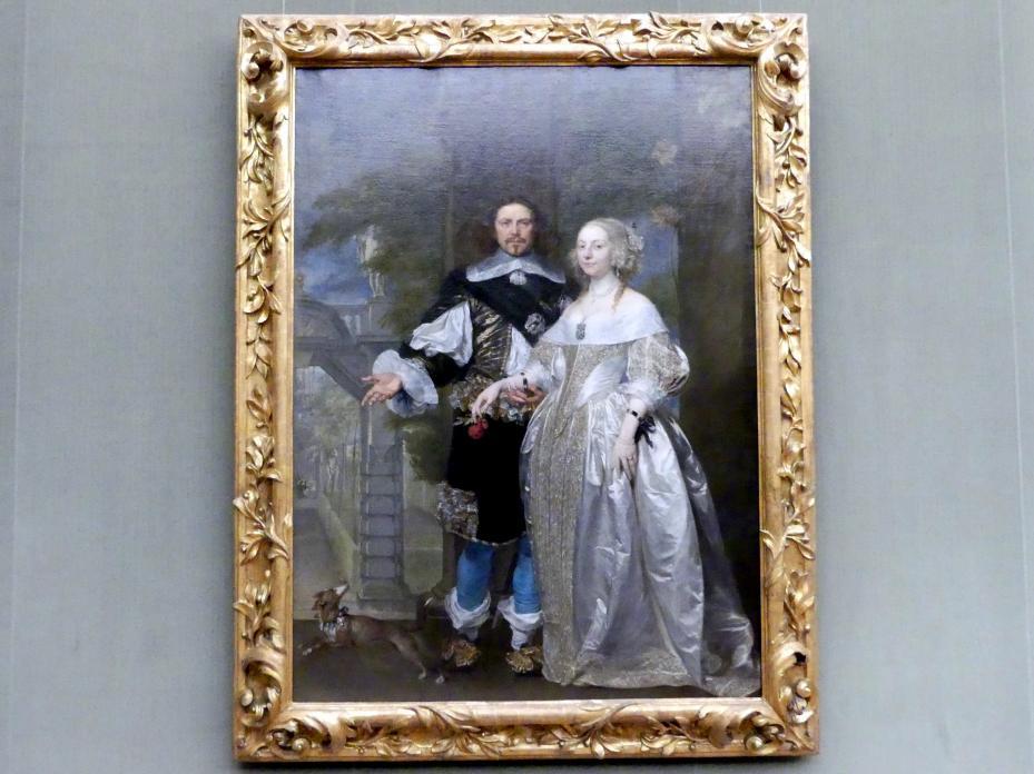 Gonzales Coques: Lord Cavendish (1592-1676) mit seiner Frau Margaret (1623-1673) im Garten des Antwerpener Rubenshauses, Um 1650