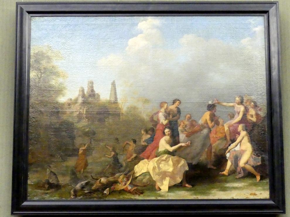 Cornelis van Poelenburgh: Amaryllis bekränzt Myrtill, Um 1635