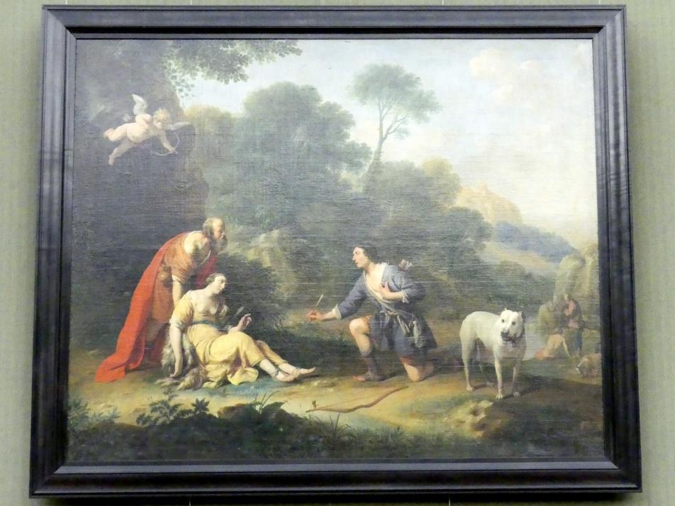 Herman Saftleven: Silvio reicht der verwundeten Dorinda den Pfeil, 1635
