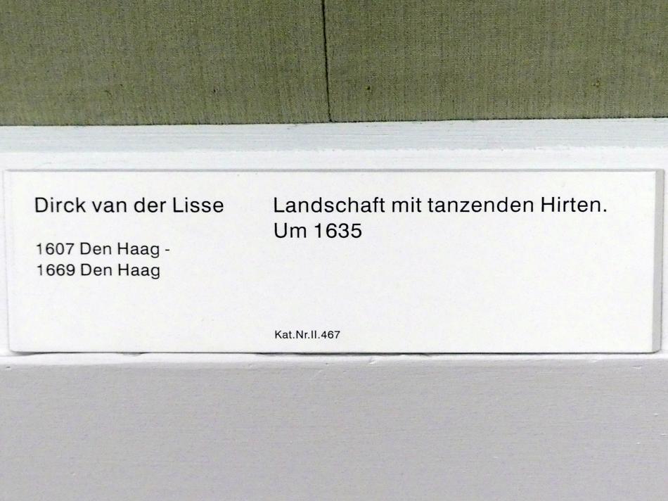 Dirck van der Lisse: Landschaft mit tanzenden Hirten, um 1635, Bild 2/3