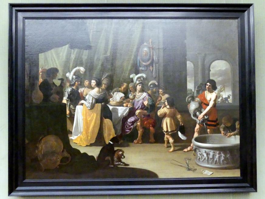 Jan van Bijlert: Das Gastmahl von Alexander und Kleitos, 1635