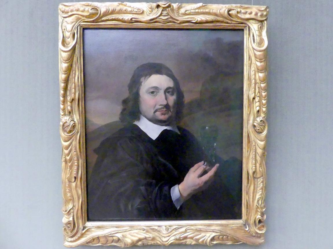 Jan Baptist Weenix: Bildnis eines Mannes mit Weinglas, um 1650 - 1655