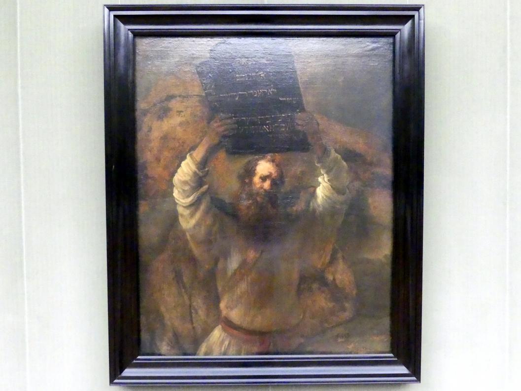 Rembrandt (Rembrandt Harmenszoon van Rijn): Moses zerschmettert die Gesetzestafeln, 1659