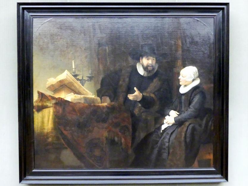 Rembrandt (Rembrandt Harmenszoon van Rijn): Der Mennonitenprediger Cornelis Claesz. Anslo (1592-1646) und seine Frau, 1641