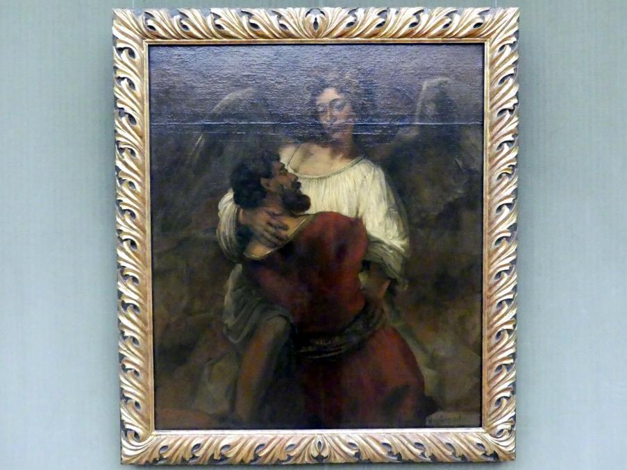 Rembrandt (Rembrandt Harmenszoon van Rijn): Jakob ringt mit dem Engel, um 1659 - 1660