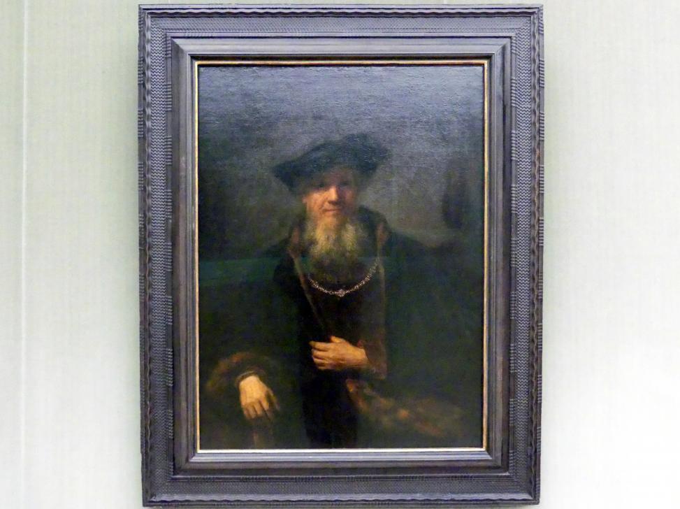Rembrandt (Rembrandt Harmenszoon van Rijn): Alter Mann mit Bart und Barett, 1645