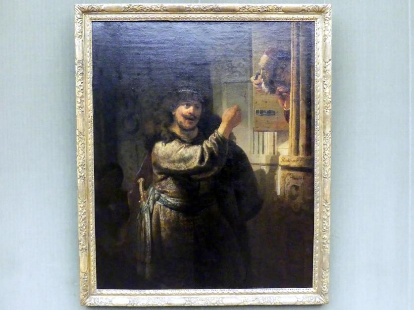 Rembrandt (Rembrandt Harmenszoon van Rijn): Simson bedroht seinen Schwiegervater, Um 1635