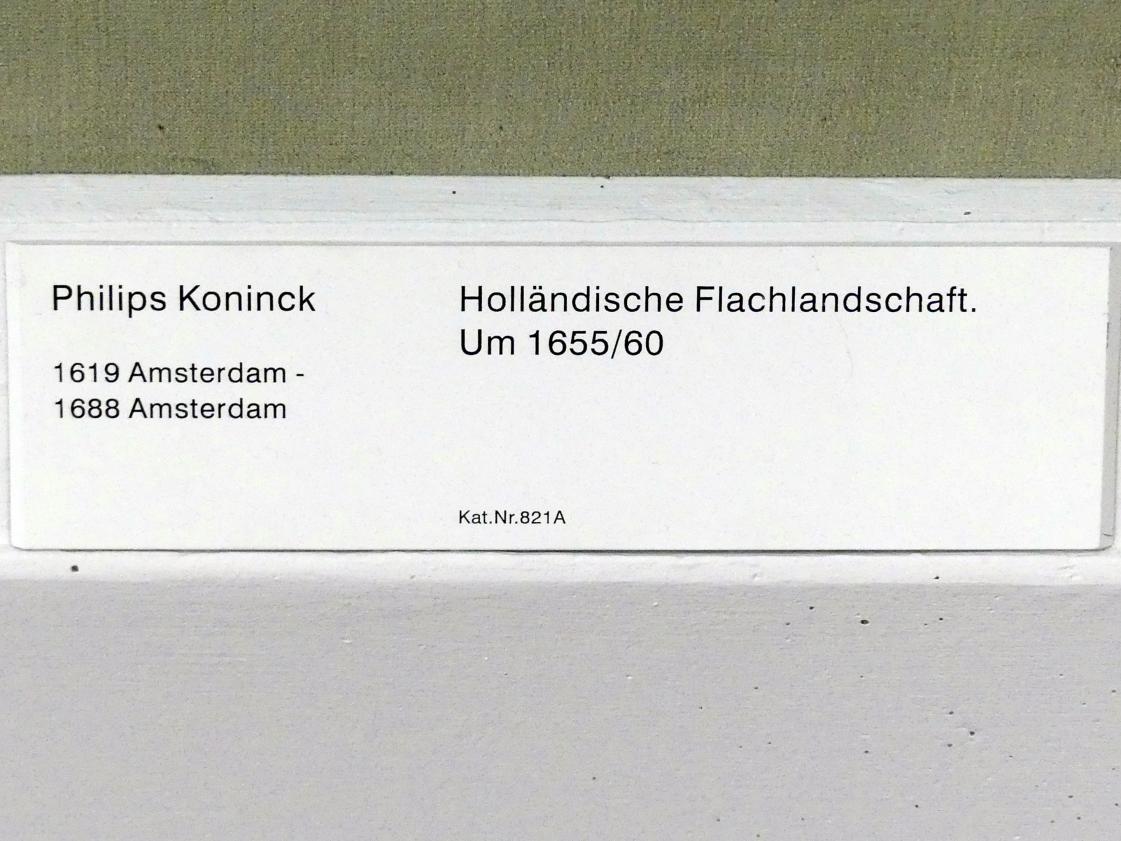 Philips Koninck: Holländische Flachlandschaft, 1655 - 1660
