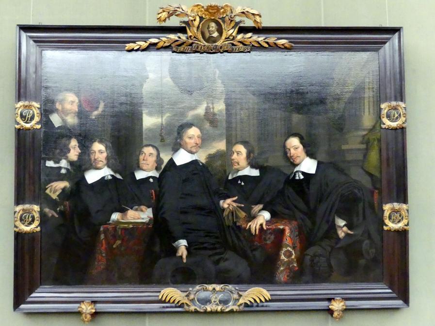 Jacob Fransz van der Merck: Die Regenten des Loridanshofes in Leiden, 1658