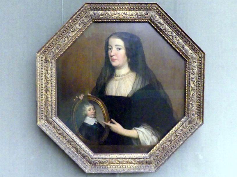 Gerrit van Honthorst (Gerard van Honthorst): Amalia von Solms (1602-1675) in Witwentracht, 1650