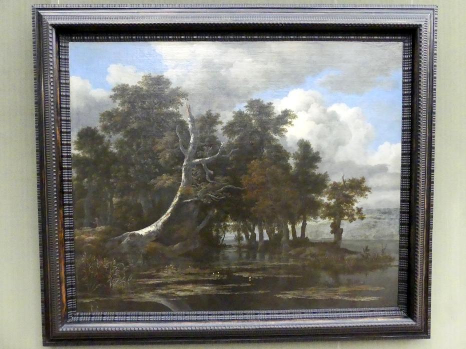 Jacob van Ruisdael: Eichen an einem See mit Wasserrosen, 1665 - 1669
