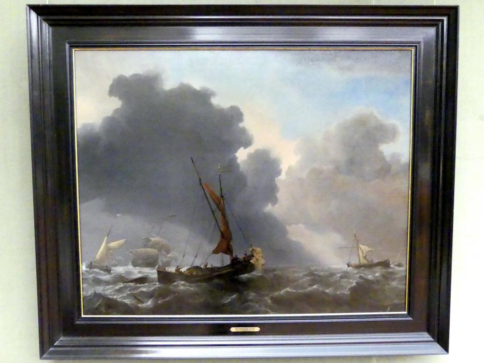 Willem van de Velde der Jüngere: Eine Karg und andere Segler bei auffrischendem Wind, Undatiert