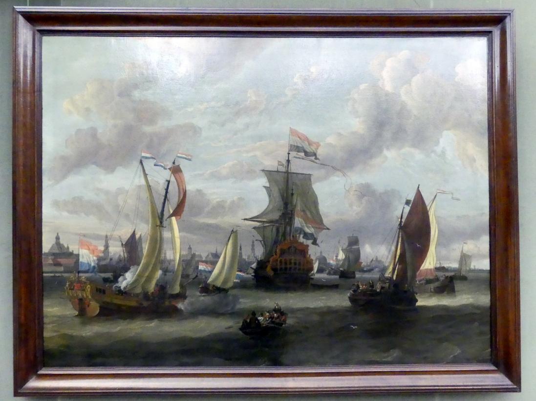 Abraham Storck: Ansicht von Amsterdam mit dem Ij, Undatiert