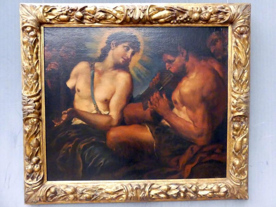 Johann Carl Loth (Carlotto): Der Wettstreit zwischen Apollo und Pan (Marsyas), Um 1685