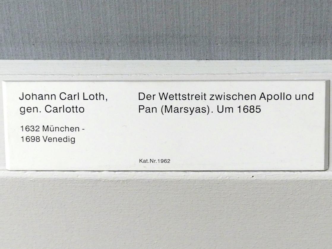 Johann Carl Loth (Carlotto): Der Wettstreit zwischen Apollo und Pan (Marsyas), um 1685, Bild 2/2