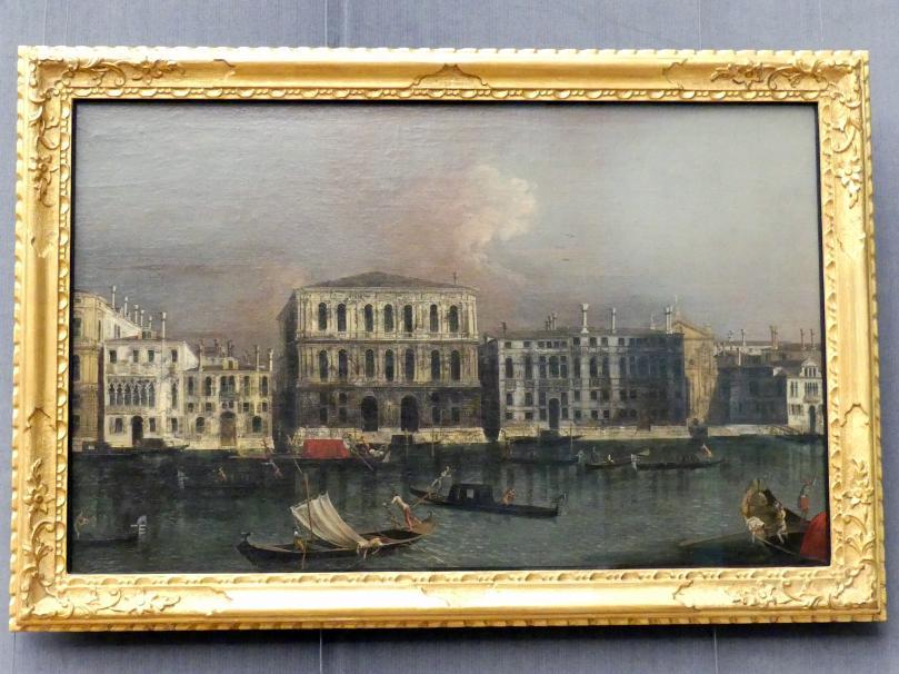 Francesco Albotto: Ansicht des Canal Grande in Venedig mit Blick auf die Ca'Pesaro, Um 1745