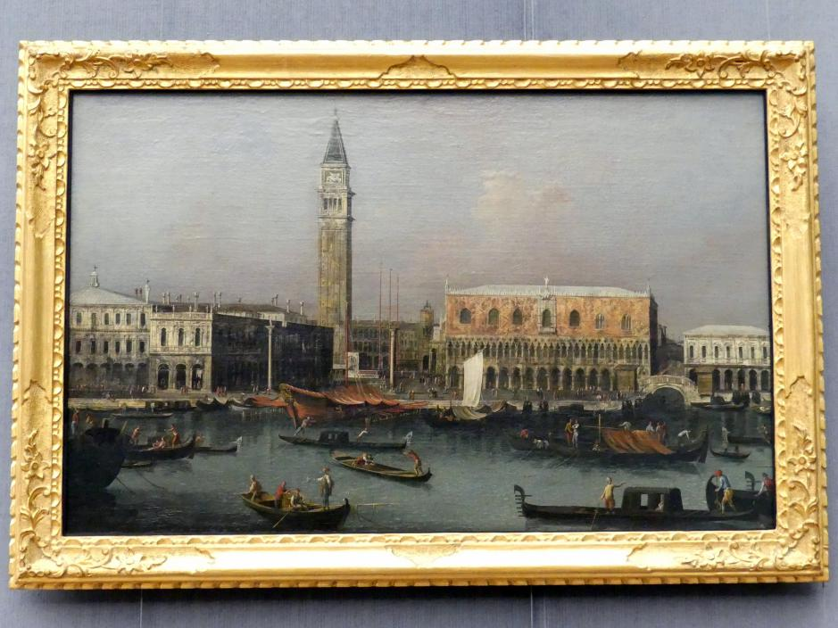 Francesco Albotto: Ansicht der Piazzetta und des Molo in Venedig vom Bacino di S. Marco aus, um 1745