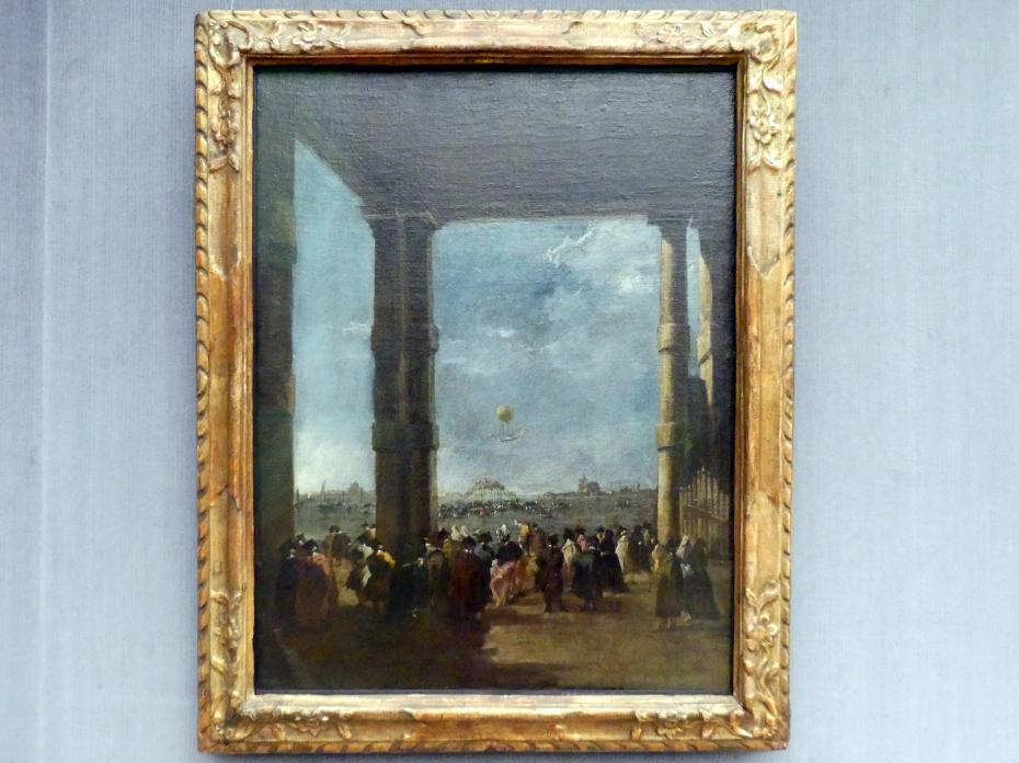 Francesco Guardi: Der Ballonaufstieg, 1784