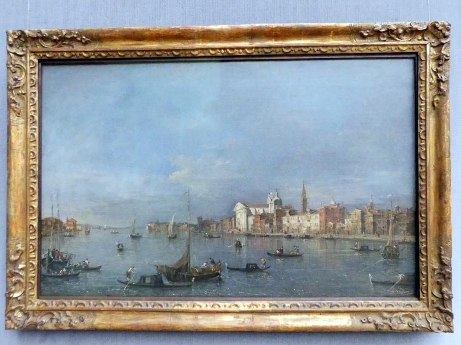 Francesco Guardi: Blick auf den Giudecca-Kanal nach Nordwesten mit den Zattere, Nach 1760