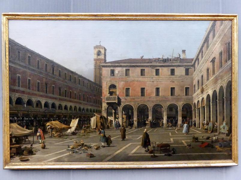 """Giovanni Antonio Canal (""""Canaletto""""): Der Campo di Rialto, Um 1758 - 1763"""