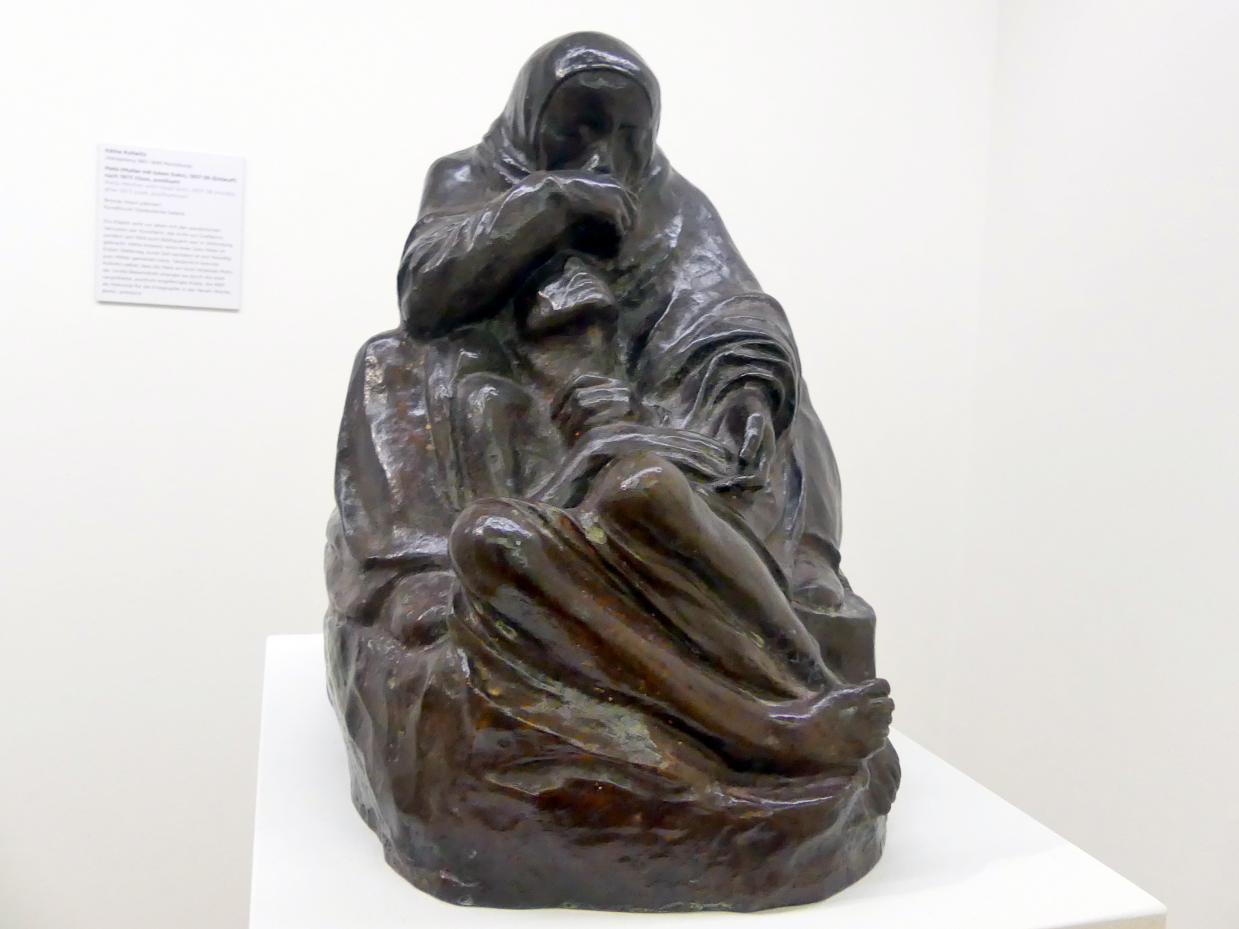 Käthe Kollwitz: Pietà (Mutter mit totem Sohn), 1937 - 1938