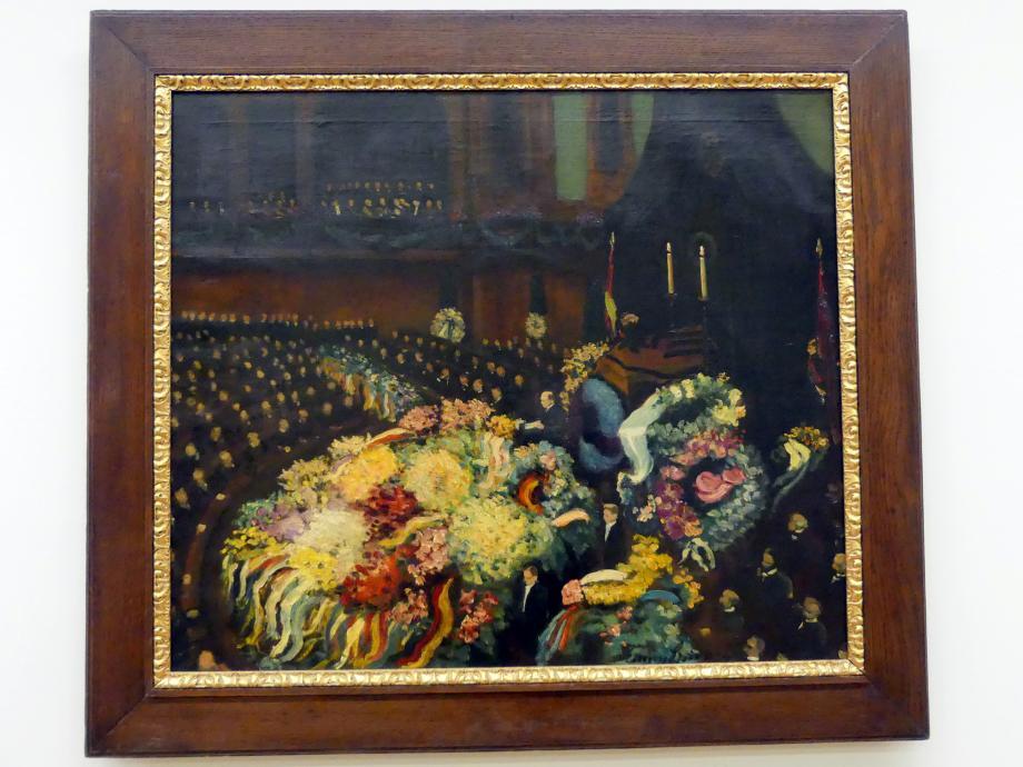 Eugene (Eugen) Spiro: Trauerfeier für Reichsaußenminister Gustav Stresemann, 1929