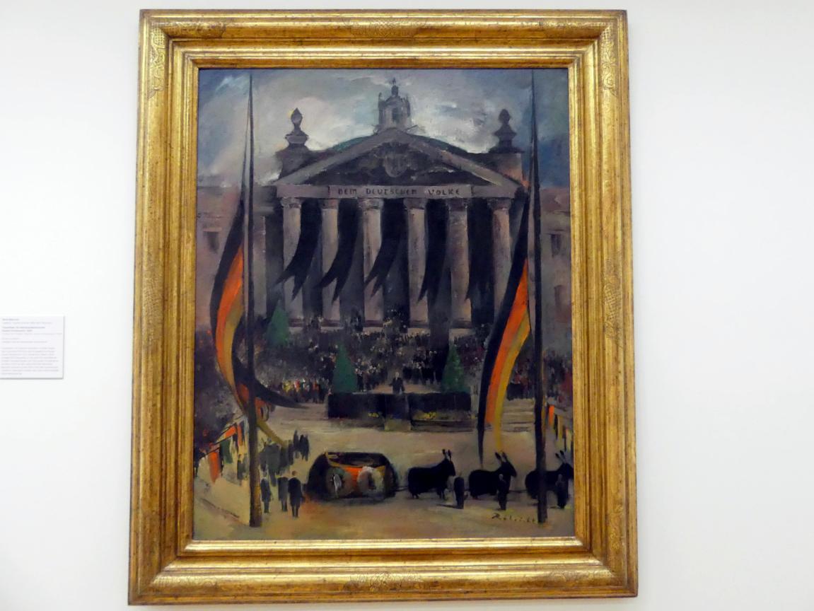 Wolf Röhricht: Trauerfeier für Reichsaußenminister Gustav Stresemann, 1929