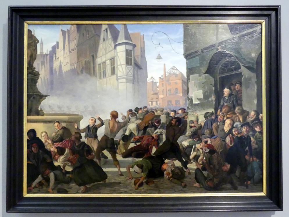 Philipp Hoyoll: Sturm auf das Backhaus am Breslauer Neumarkt, 1846