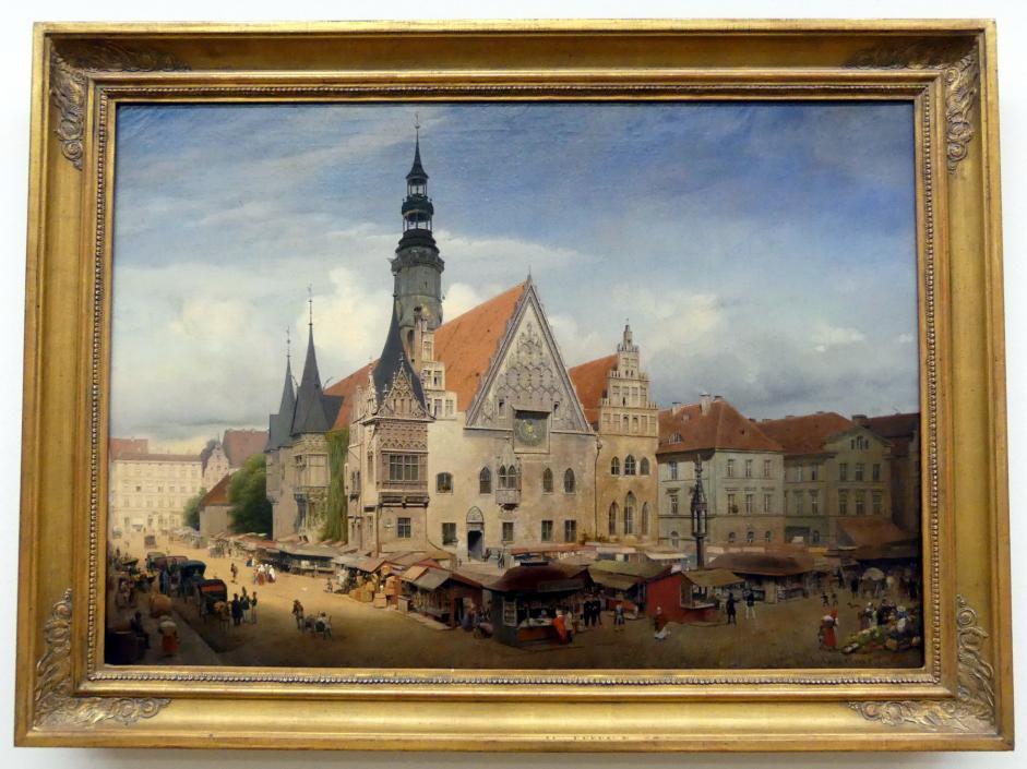 Eduard Gaertner: Das Rathaus zu Breslau, 1847