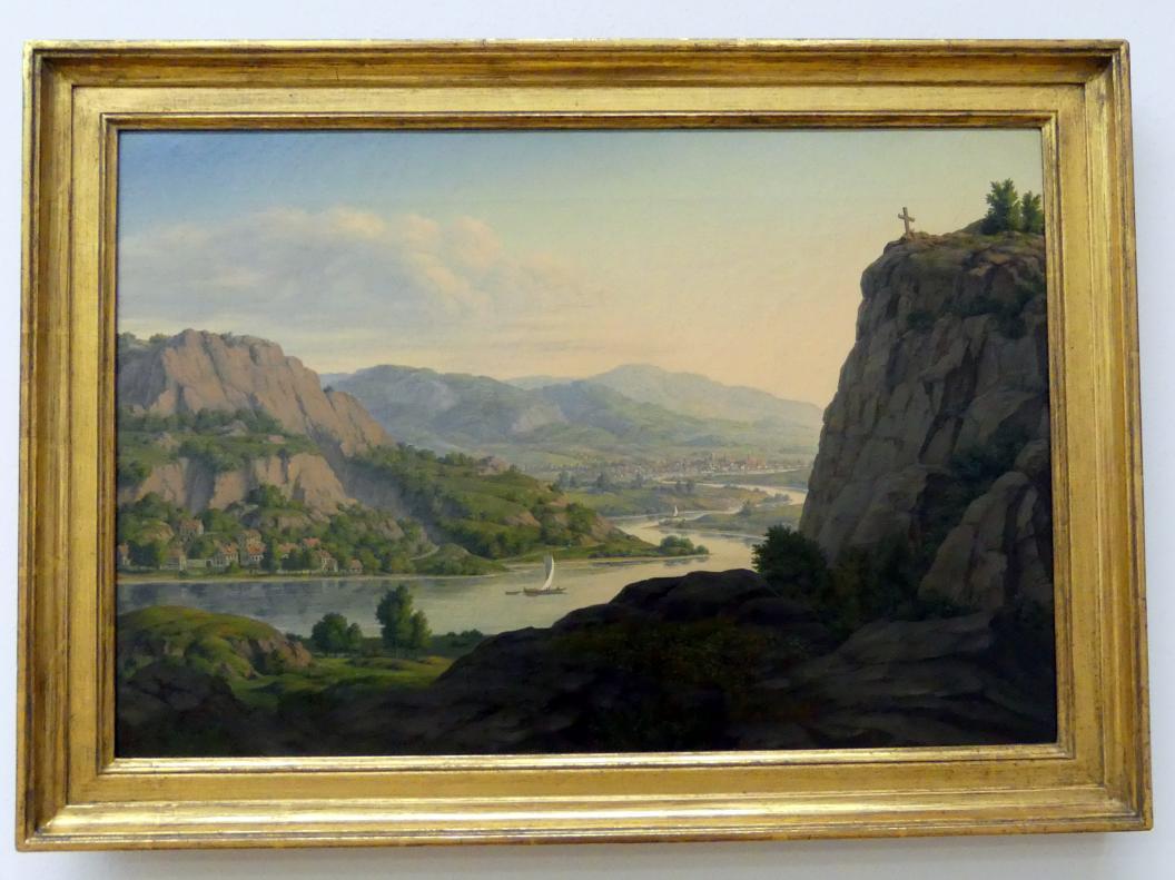 Carl Georg Schumacher: Elblandschaft an der Porta Bohemica bei Leitmeritz in Böhmen, 1830 - 1850