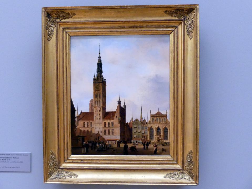 Johann Friedrich Stock: Danzig, Rechtständisches Rathaus und Langer Markt, 1841
