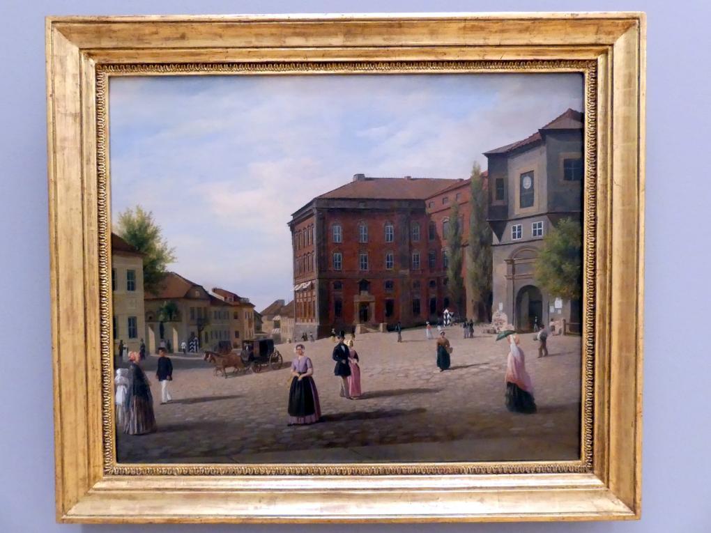 Carl Wilhelm Hübner: Schlossplatz zu Königsberg, 1853