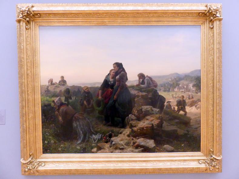 Carl Wilhelm Hübner: Abschied der Auswanderer, 1855