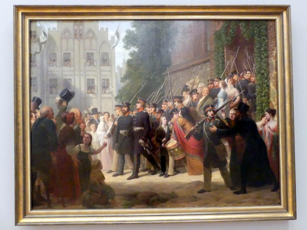 Gustav Graef: Auszug der ostpreußischen Landwehr ins Feld 1813, um 1860 - 1861