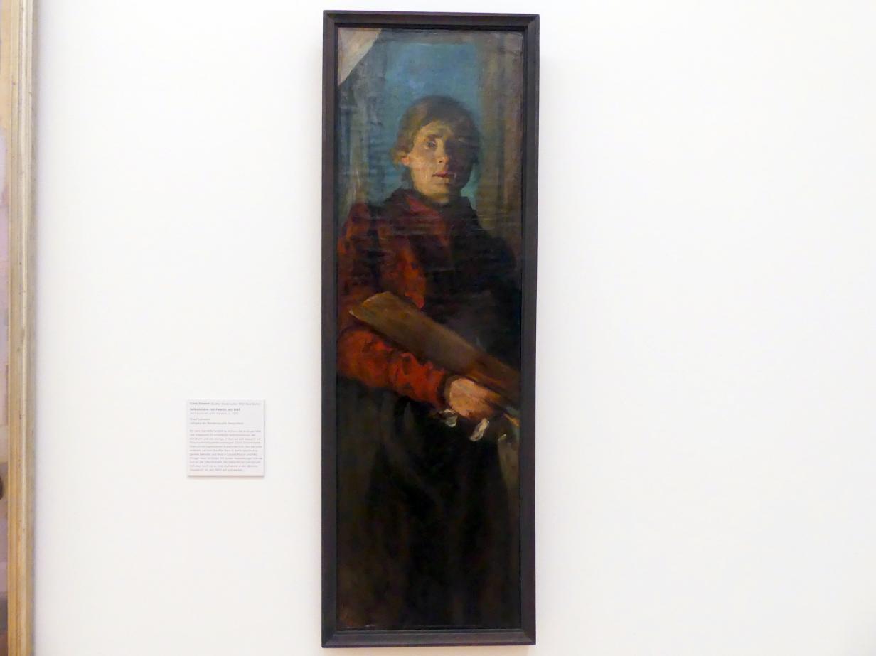 Clara Siewert: Selbstbildnis mit Palette, Um 1895