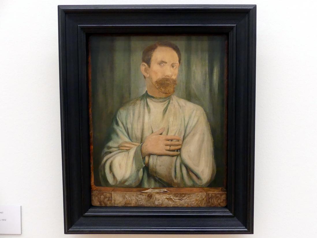 August Brömse: Selbstportrait mit Ehering, 1912