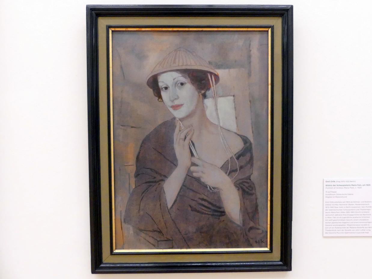 Emil Orlik: Bildnis der Schauspielerin Maria Fein, um 1925
