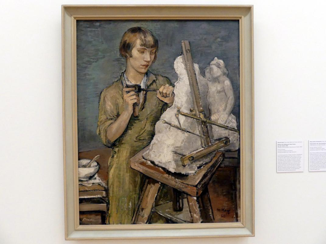 Maxim Kopf: Bildnis der Bildhauerin Mary Duras bei der Arbeit, 1928