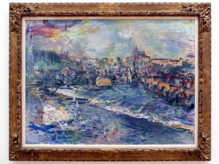 Oskar Kokoschka: Prag. Blick vom Moldauufer auf die Kleinseite und den Hradschin III, 1936