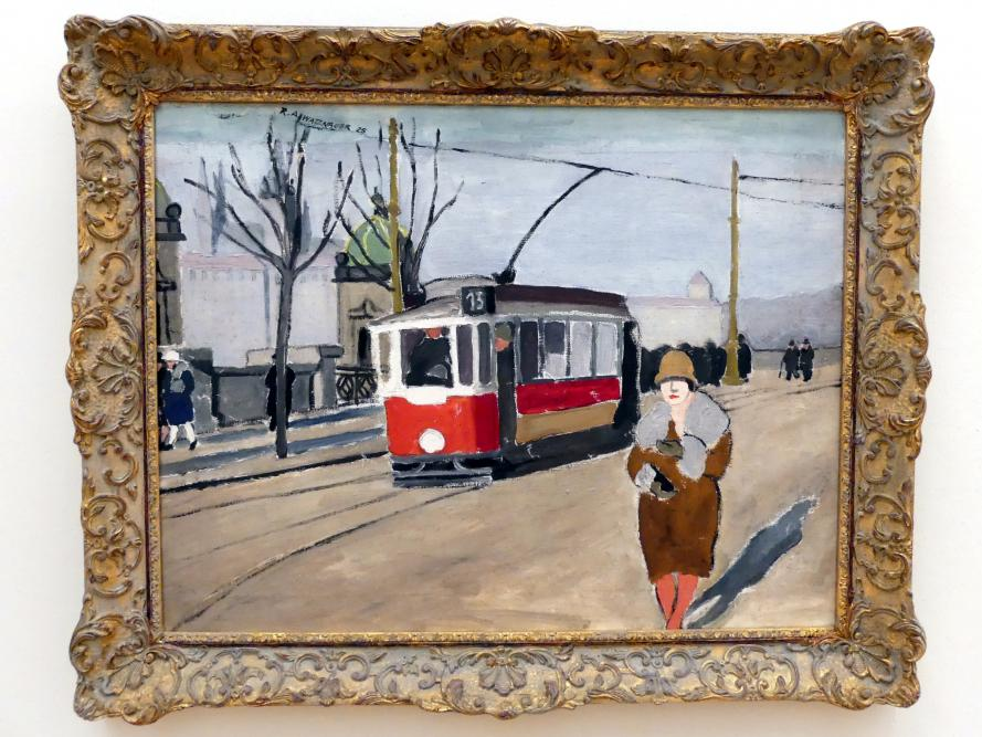 Rudolf Alois Watznauer: Strassenbahn in Prag, 1925