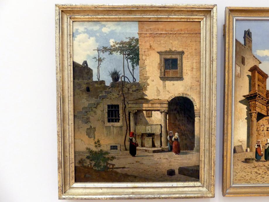 Arthur Blaschnik: Römischer Innenhof in Tivoli, um 1865