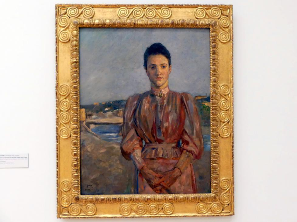 Max Klinger: Portrait Cornelia Paczka-Wagner (1864-1930), 1892
