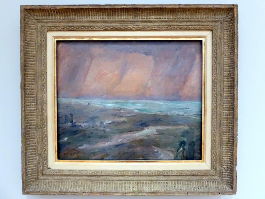 Max Beckmann: Trüber Abend am Meer, 1909
