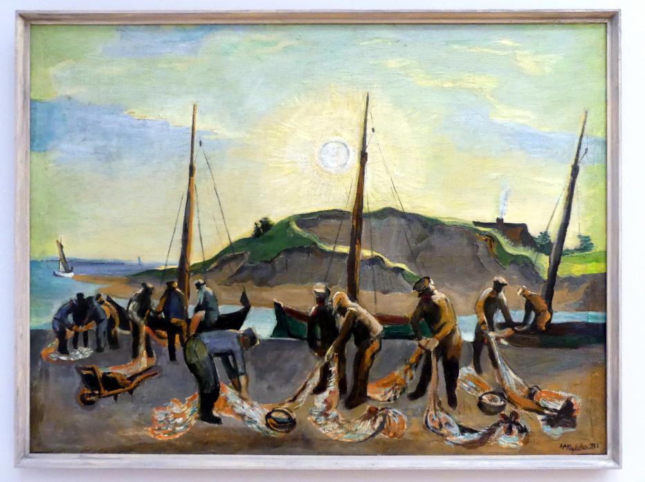 Max Pechstein: Heringsfischer am Strand, 1932