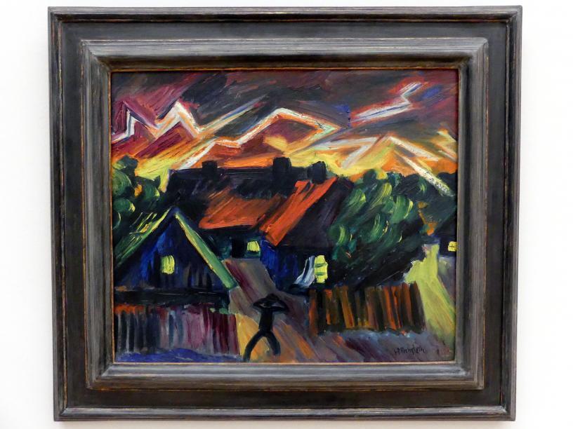 Max Pechstein: Fischerhäuser in Nidden bei Gewitterstimmung, 1919 - 1920