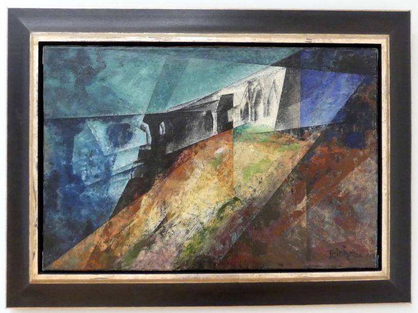 Lyonel Feininger: Die Ruine auf dem Kliff II, 1940