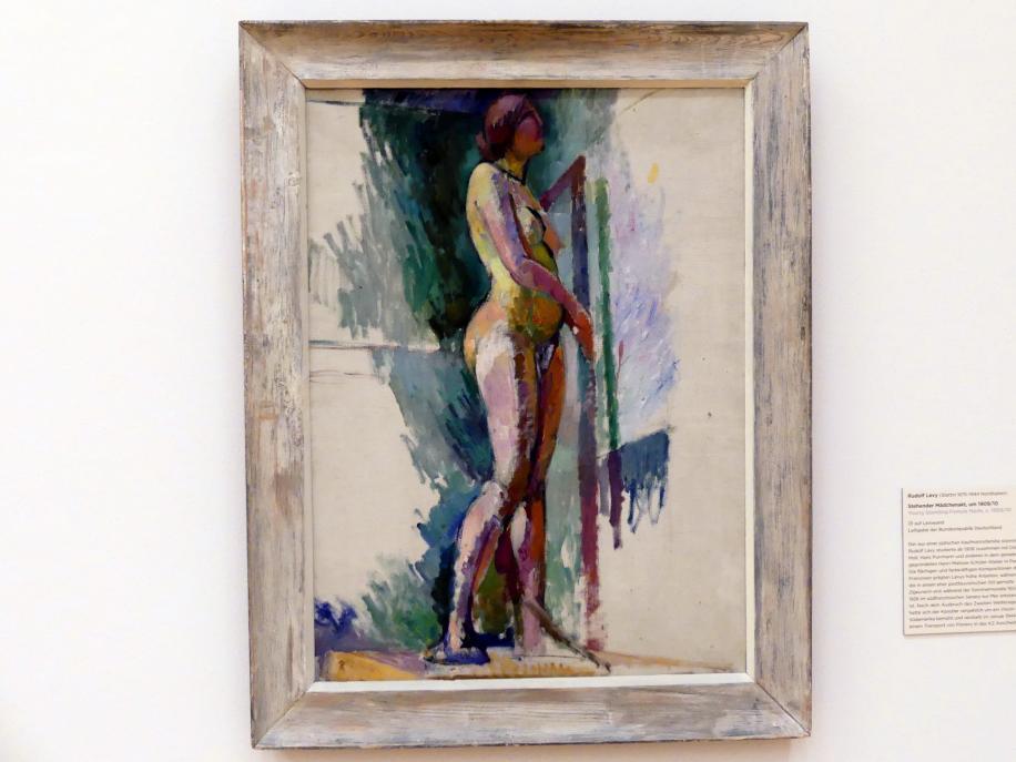 Rudolf Levy: Stehender Mädchenakt, Um 1909 - 1910