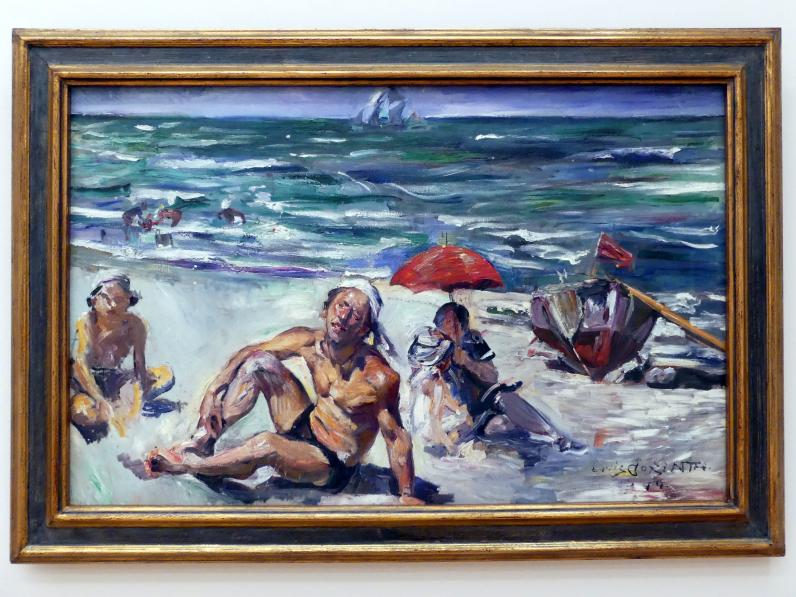 Lovis Corinth: Am Strand von Forte dei Marmi, 1914