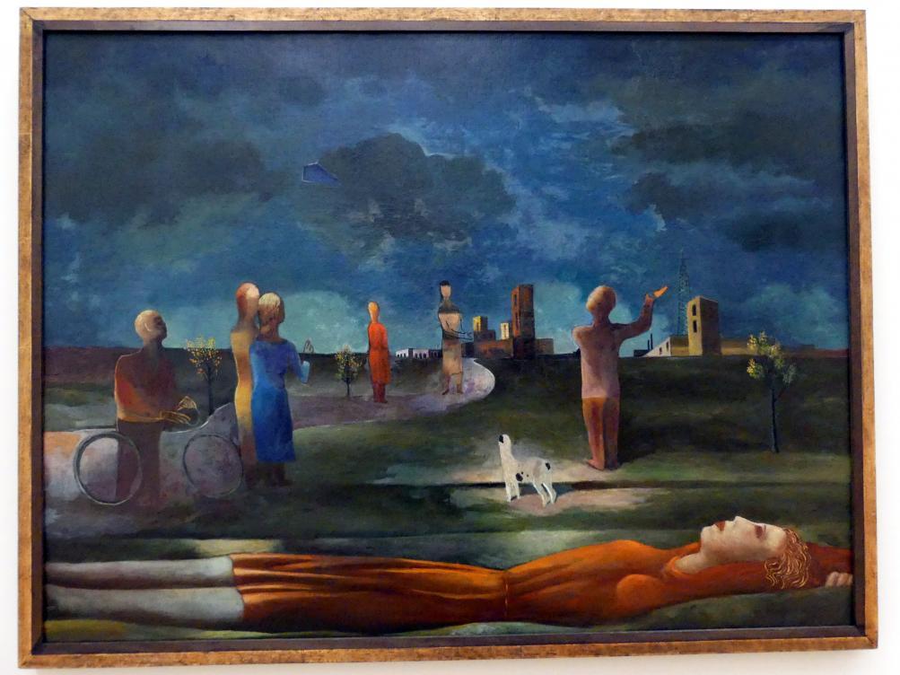 Carlo Mense: Abendliches Vorstadtbild, 1930