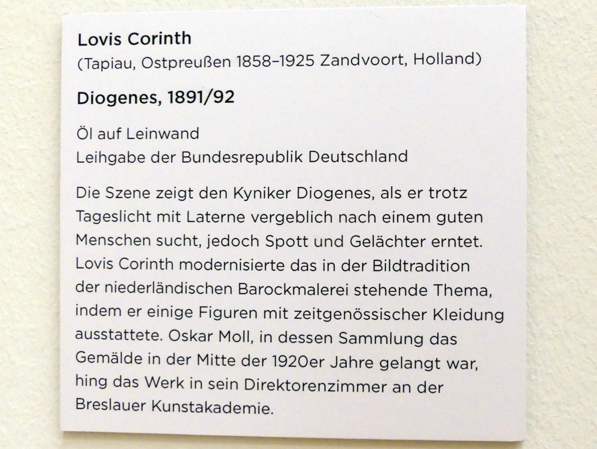 Lovis Corinth: Diogenes, 1891 - 1892, Bild 2/2